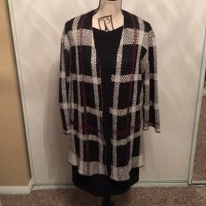 Kasper long cardigan, size Large